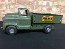 "Vintage Metal ""Buddy L"" Army Transport Truck"