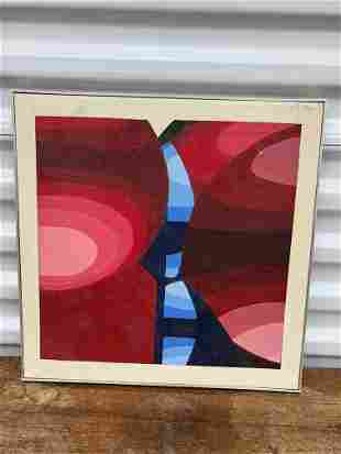 Mid Century Red Abstract