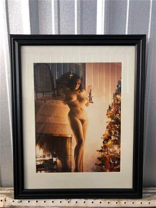 Nude Portrait by Christmas Tree