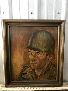 Cpt John Lyons Soldier Oil Painting