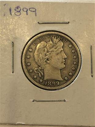 1899 Silver Quarter