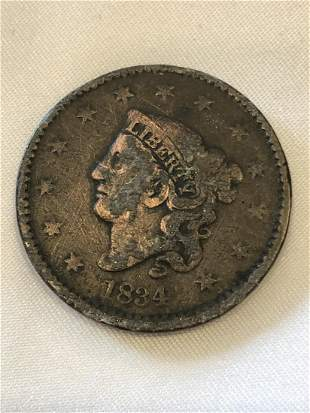 1834 1 Cent Coin