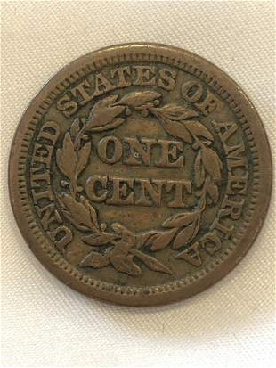 1847 1 Cent Coin
