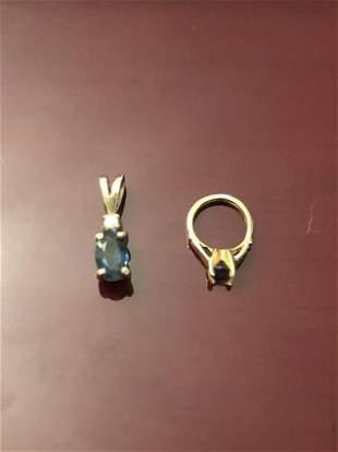 DIAMOND/SAPPHIRE, AMETHYST/GOLD CHARMS