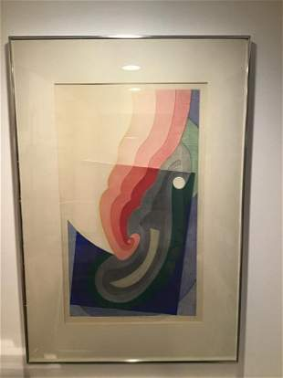 Kuzami Armano large woodblock print signed and numbered