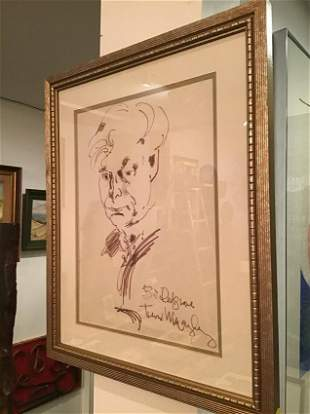 William Redgrave ink self portrait