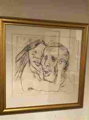 William Redgrave signed 1/100 lithograph Reassurance