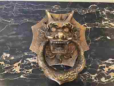 Brass Chinese Dragon Door Knocker