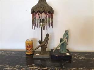 Art Deco Nude Frankart Lamp and Statue