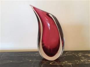 Mid Century Oggetti Murano Glass Vase