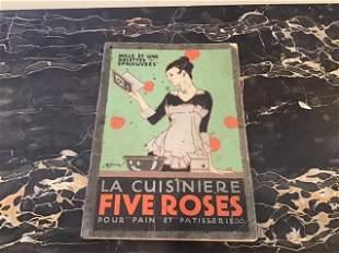 Vintage Art Deco French Cookbook Five Roses