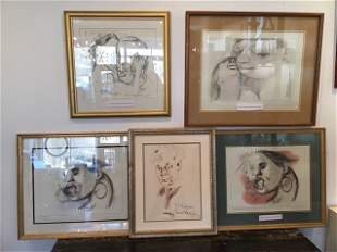 5 Post Modern Expressionist Lithographs by Redgrave