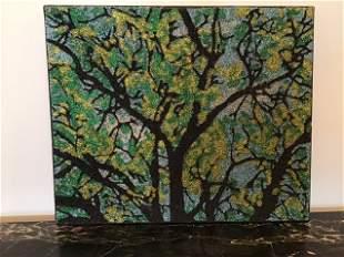 Sue Zola Folk Art Glitter Painting