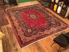 Persian Kerman Rug Signed by Maker