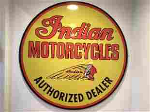 Indian Motorcycle Sign Large