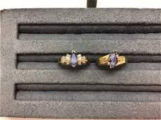 Collection 14K GOLD TANZANITE & DIAMOND RINGS
