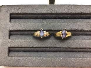 Collection 14K GOLD TANZANITE & DIAMOND RINGS