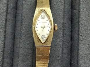 10K GOLD RP & Diamond Wittnauer Watch as found