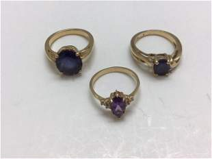 LOT 3 14K AND 10K GOLD RINGS