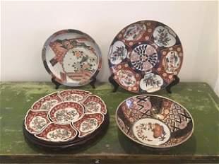 4pc Japanese Imari Pieces
