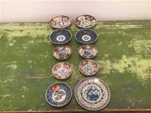 10 Japanese Imari Small Plates & others