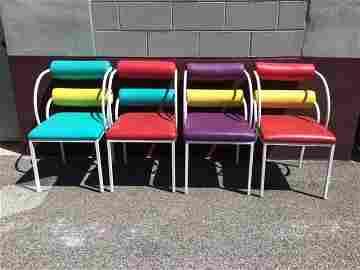 Post Modern Chairs Set 4 Outdoor Patio Garden