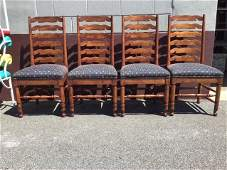 Set 4 Ladderback Chairs