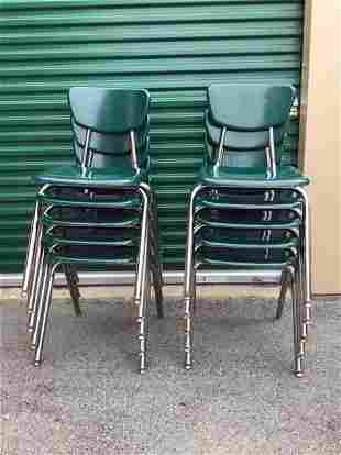 10 Virco Mid Century Chairs School Dining