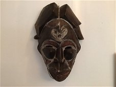 African Mask with metal trim