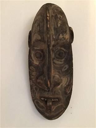Long Wood Mask Carving