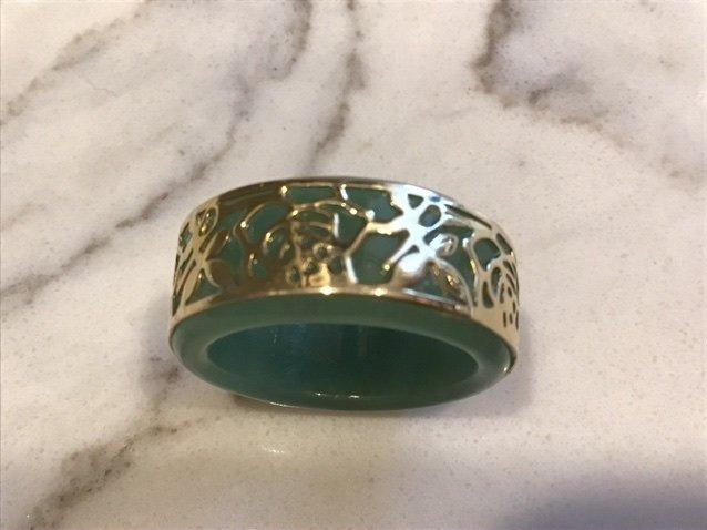 14k Gold and Jade Band