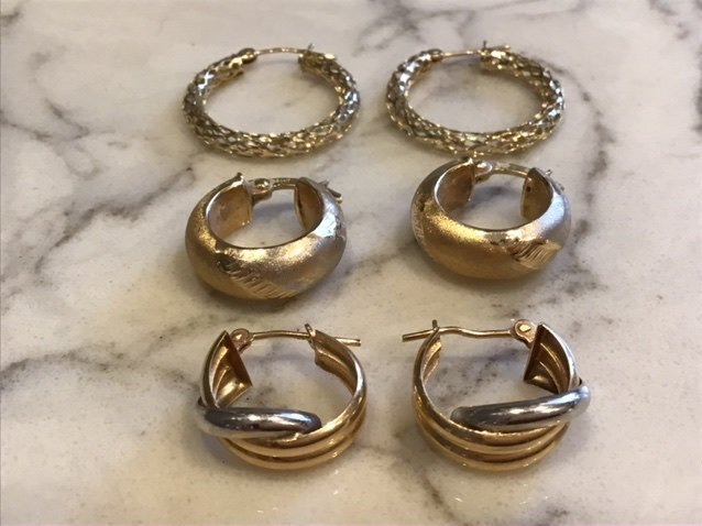 Collection of 14k Gold Hoop Earrings