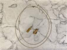 Collection of 14k Gold Chains and Charms
