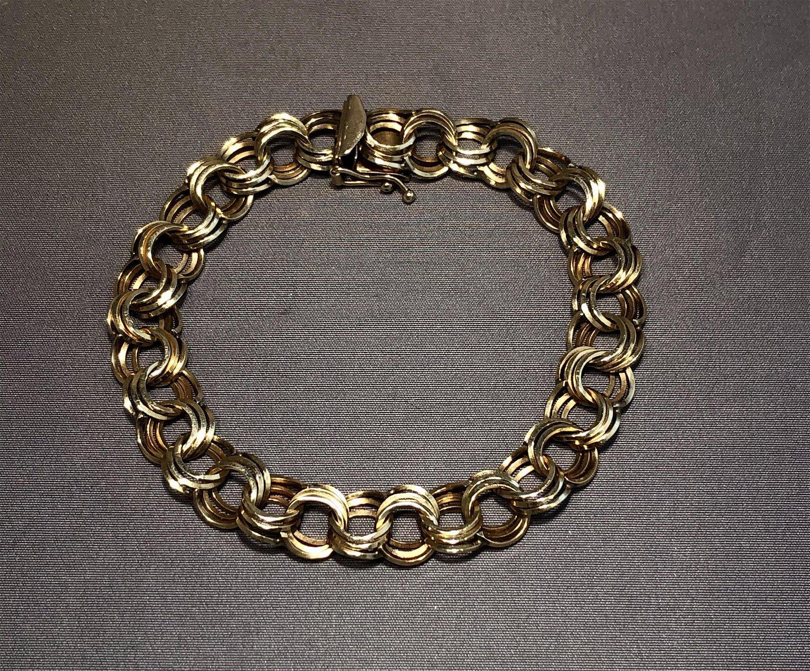 14k Gold Loop Bracelet