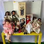 Collection Porcelain Dolls, Kent, Effanbee, etc