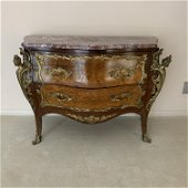 French Bombay Marble Top Chest Figural Ormolu