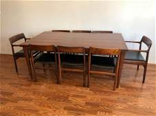 Rosewood Niels O. Moller for J. L. Moller Dining Table