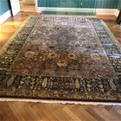 Hand Woven Mid 20th C. Oriental Rug