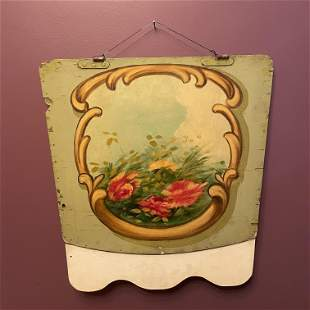 French 19th C. Carousel Panel Hand Painted
