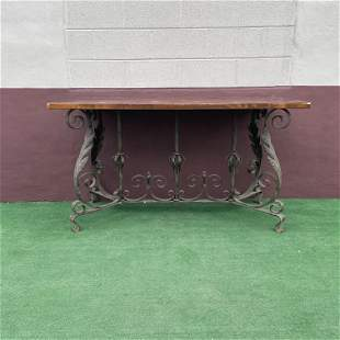 Antique French Console Table Gatsby Era Ornate