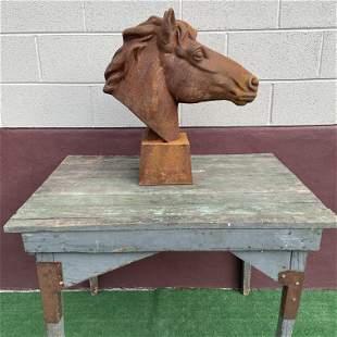 Cast Iron Horse Head Statue Centerpiece