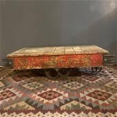 Original Industrial Cart Red Paint advertising #6