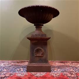 19th C. Victorian Cast Iron Flower Urn