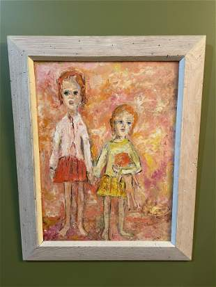 Signed Hilda Rubin Oil on Board