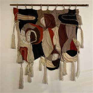 Post Modern Textile Wall Art Hanging