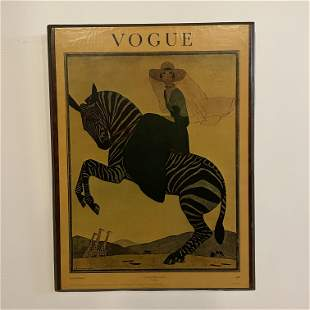 Vogue Poster on Wood