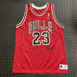 Double Signed Michael Jordan Chicago Bulls Jersey
