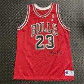 Double Signed Michael Jordan Chicago Bulls Jersey