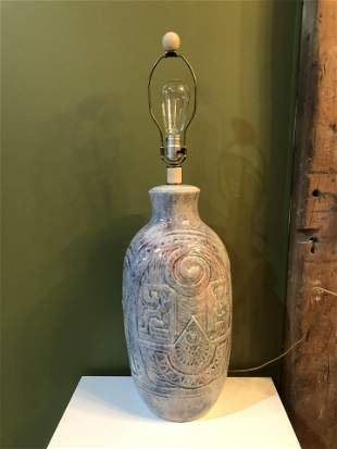 Large Post Modern Pottery Lamp