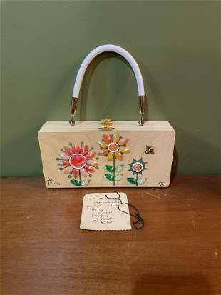 Vintage Clutch Purse Les Flowers